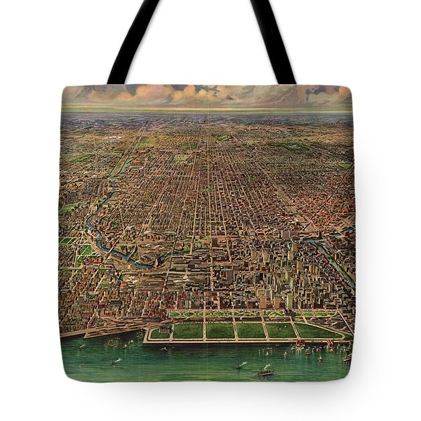 Chicago, Central Business Section Tote Bag