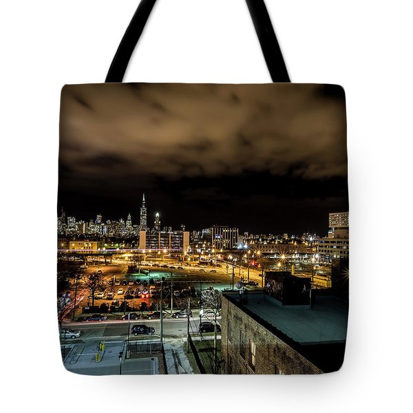 Chicago City And Skyline Tote Bag