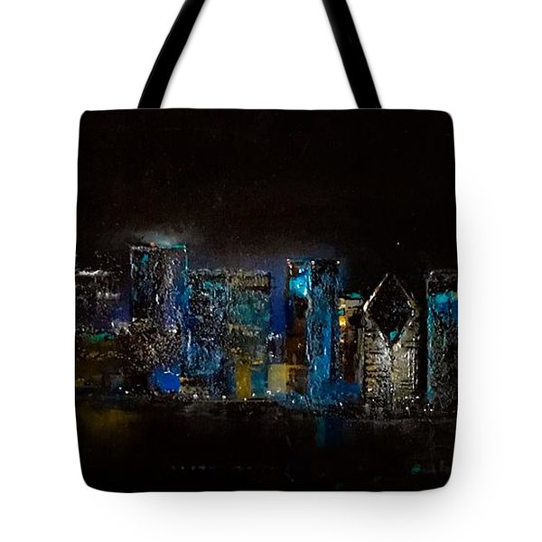 Chicago City Scene Tote Bag by Michele Carter