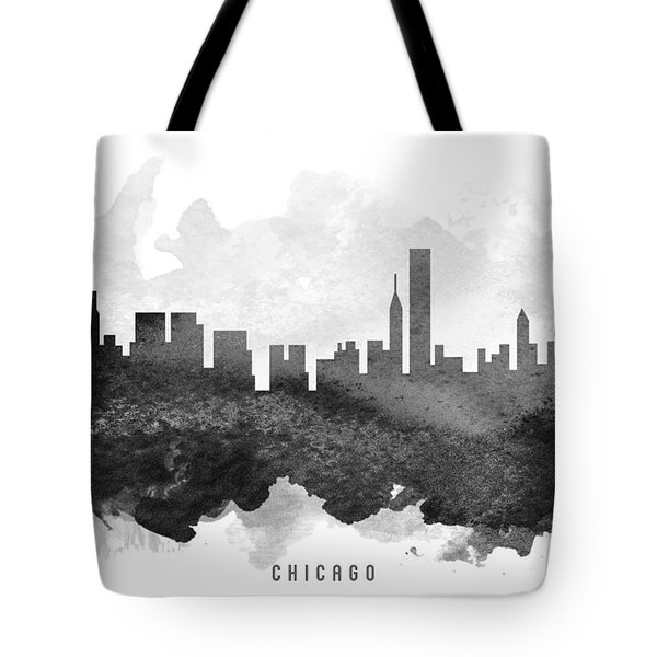 Chicago Cityscape 11 Tote Bag by Aged Pixel