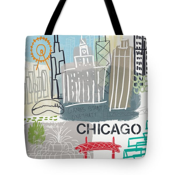 Chicago Cityscape- Art By Linda Woods Tote Bag