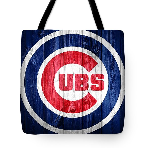 Chicago Cubs Barn Door Tote Bag by Dan Sproul