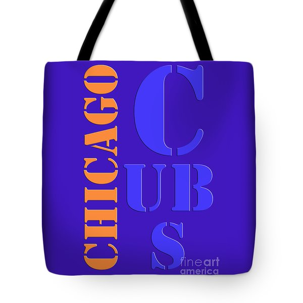 Chicago Cubs Baseball Team Vintage Original Typpography Tote Bag
