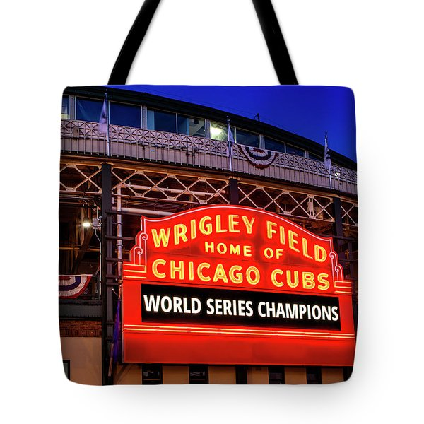 Chicago Cubs Win Tote Bag