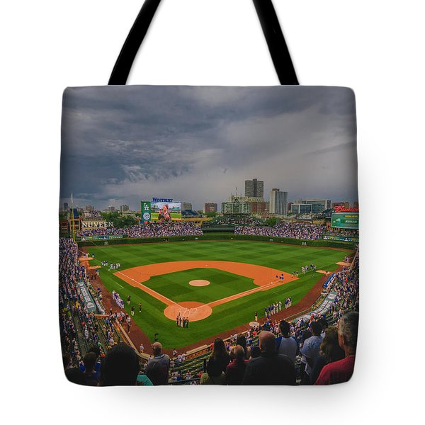 Chicago Cubs Wrigley Field 4 8213 Tote Bag