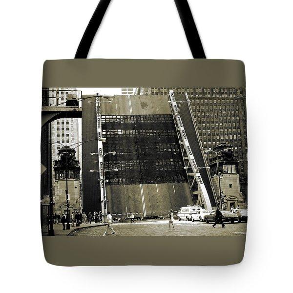Old Chicago Draw Bridge - Vintage Photo Art Print Tote Bag