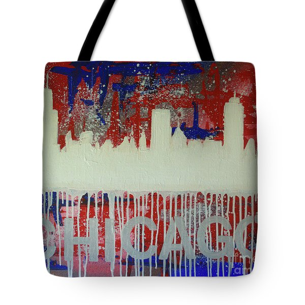 Tote Bag featuring the painting Chicago Drip by Melissa Goodrich