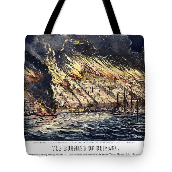 Chicago: Fire, 1871 Tote Bag
