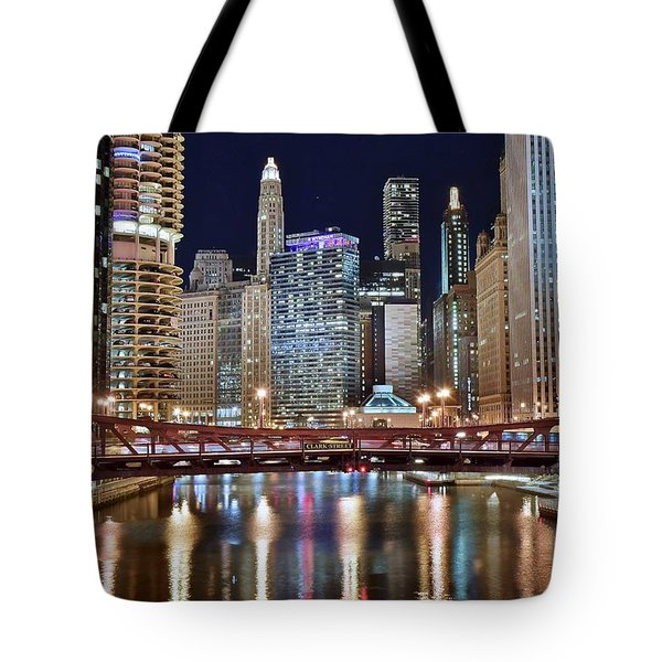 Chicago Full City View Tote Bag by Frozen in Time Fine Art Photography