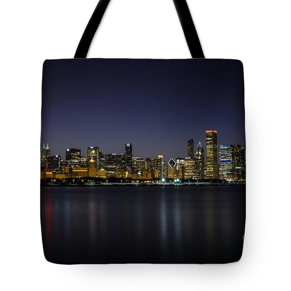 Tote Bag featuring the photograph Chicago In Blue by Andrea Silies