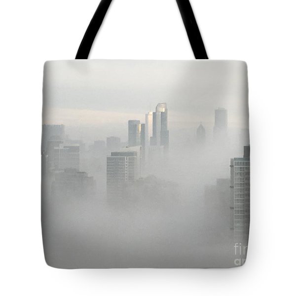 Chicago In The Clouds Tote Bag by Kate Purdy