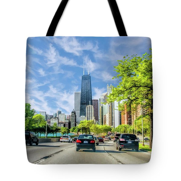 Chicago Lake Shore Drive Tote Bag