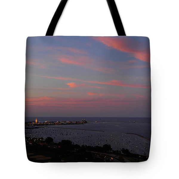 Chicago Lakefront At Sunset Tote Bag