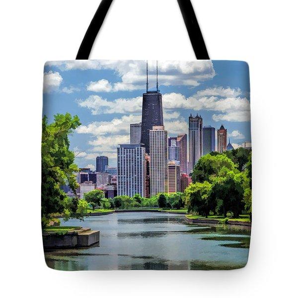 Chicago Lincoln Park Lagoon Tote Bag