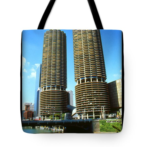 Chicago Marina City - Poster Art Tote Bag by Art America Gallery Peter Potter