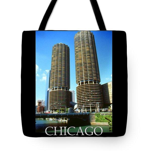 Chicago Poster - Marina City Tote Bag