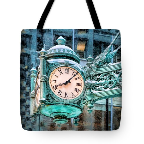 Chicago Marshall Field State Street Clock Tote Bag