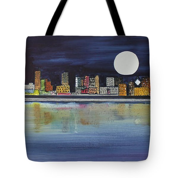 Chicago Moon Tote Bag by Jack G  Brauer