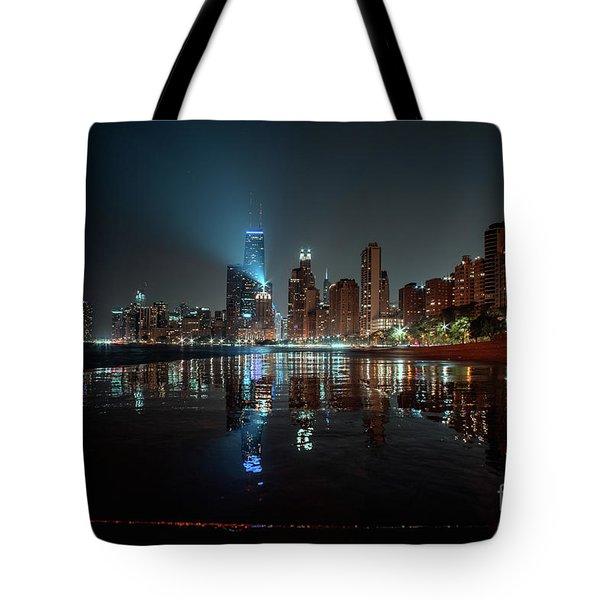 Chicago Night Tote Bag