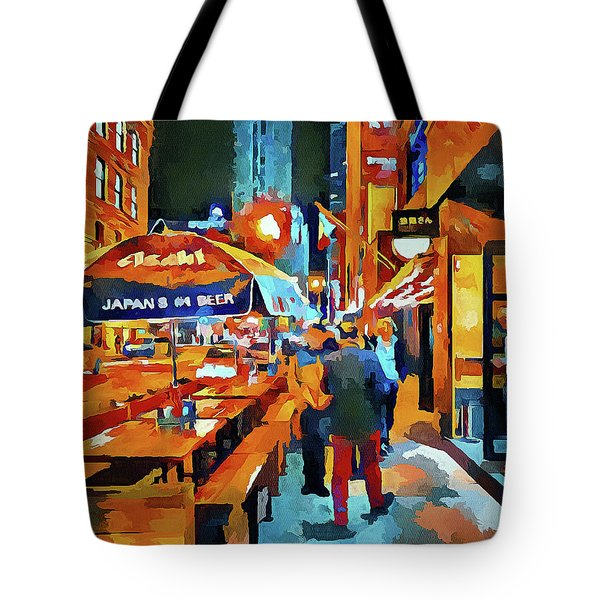 Chicago Night Time Tote Bag