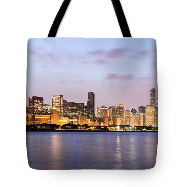 Chicago Panorama Tote Bag by Paul Velgos