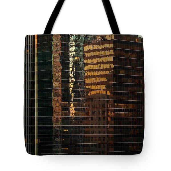 Chicago Reflected Tote Bag by Steve Gadomski