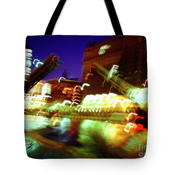 Chicago River Bridge #1  Tote Bag