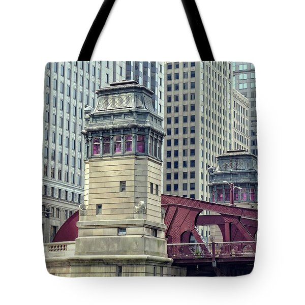 Chicago River Bridgehouse Tote Bag