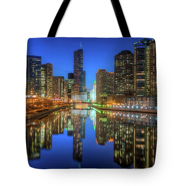 Chicago River East Tote Bag by Steve Gadomski