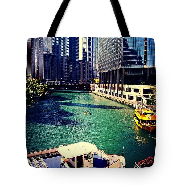 City Of Chicago - River Tour Tote Bag