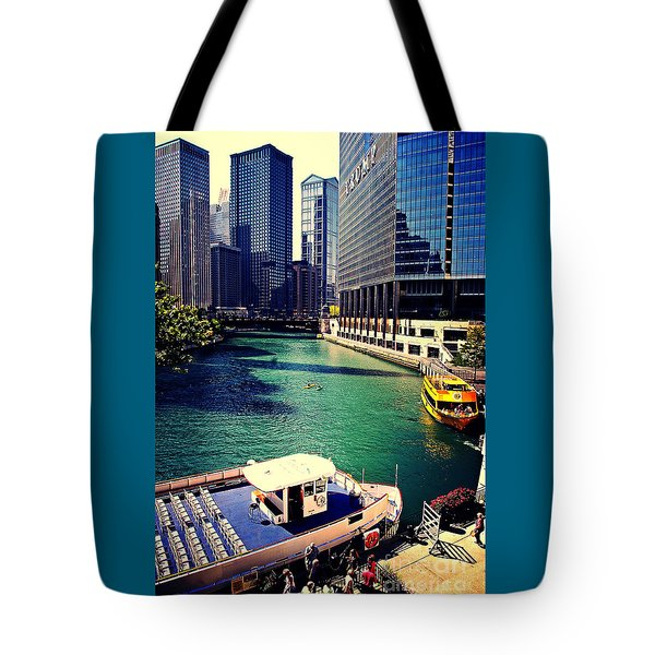 City Of Chicago - River Tour Tote Bag