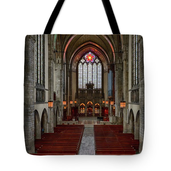 Chicago Rockefeller Chapel Tote Bag by Mike Burgquist