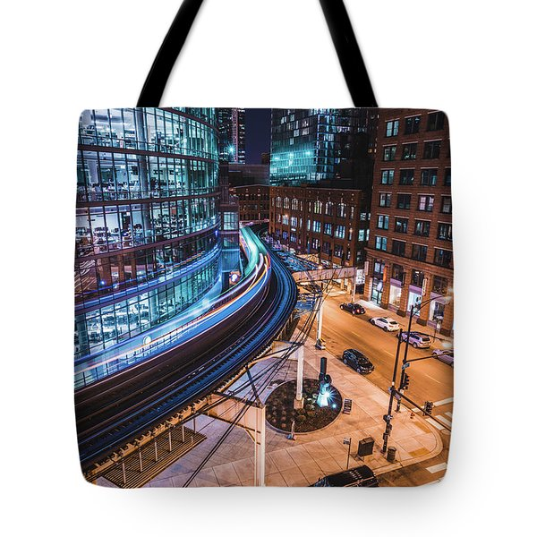 Chicago S Train Tote Bag