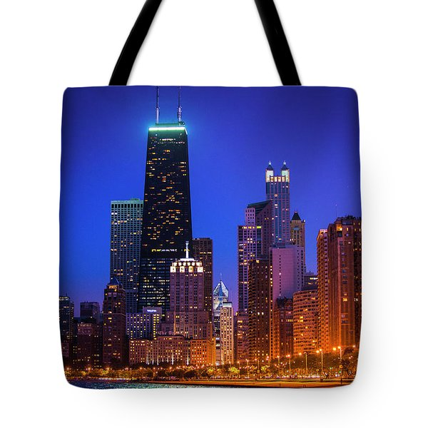 Chicago Shoreline Skyscrapers Tote Bag