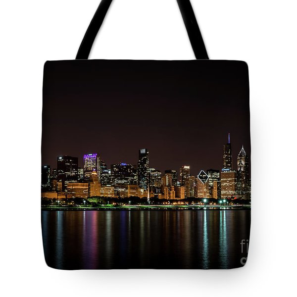 Chicago Skyline Tote Bag by Andrea Silies
