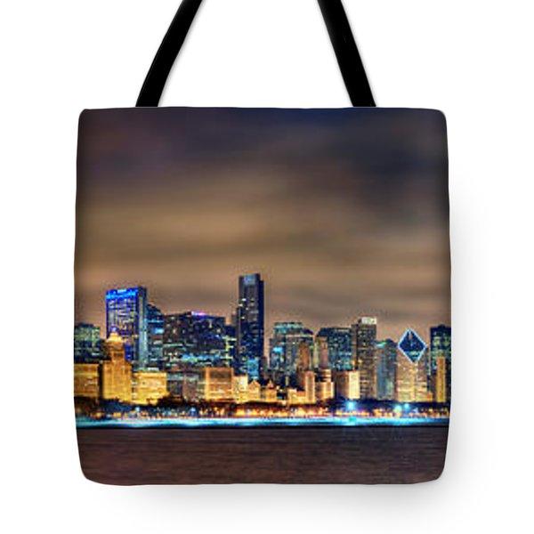 Chicago Skyline At Night Panorama Photograph By Jon Holiday