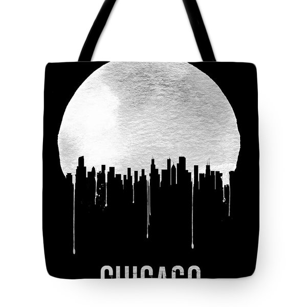 Chicago Skyline Black Tote Bag