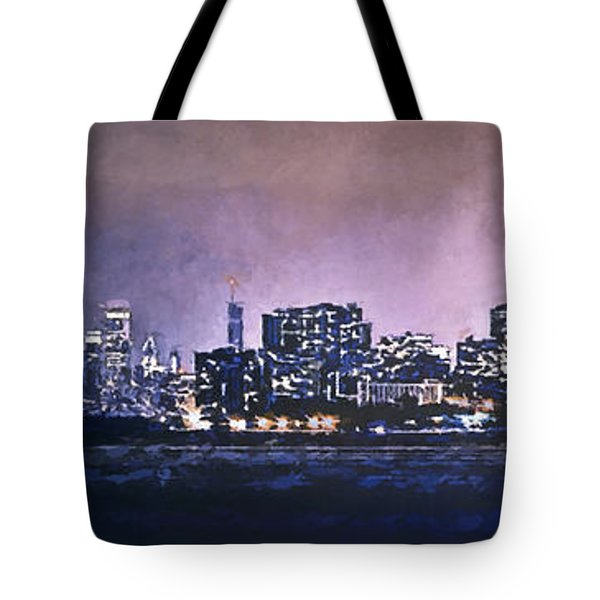 Chicago Skyline From Evanston Tote Bag by Scott Norris