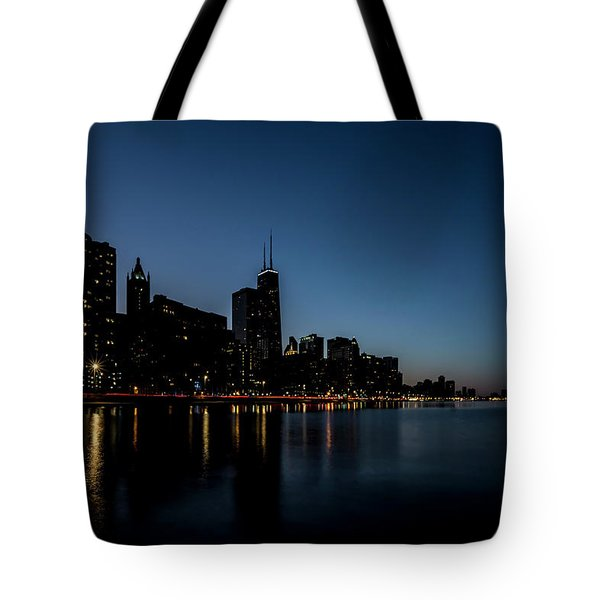 Chicago Skyline From Olive Park  Tote Bag