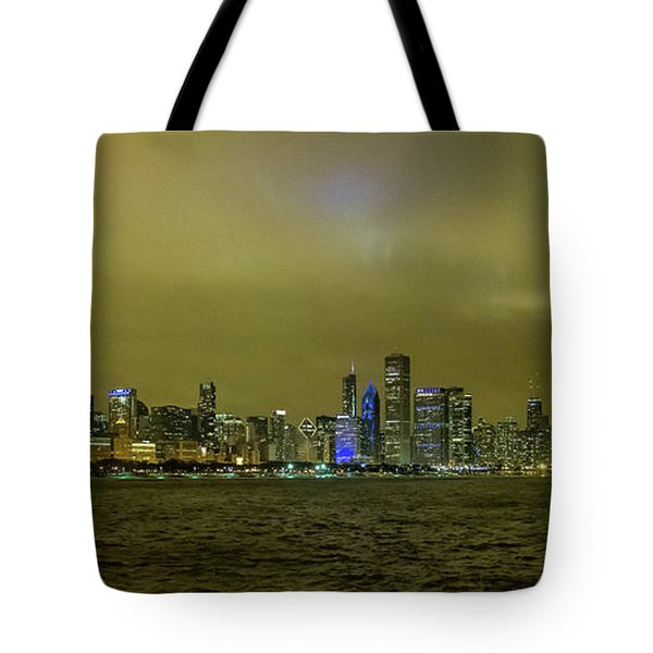 Chicago Skyline Tote Bag