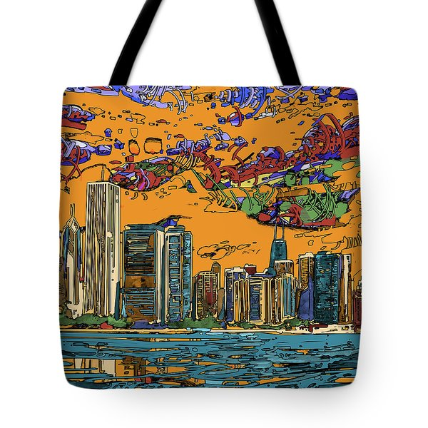 Chicago Skyline Panorama 2 Tote Bag