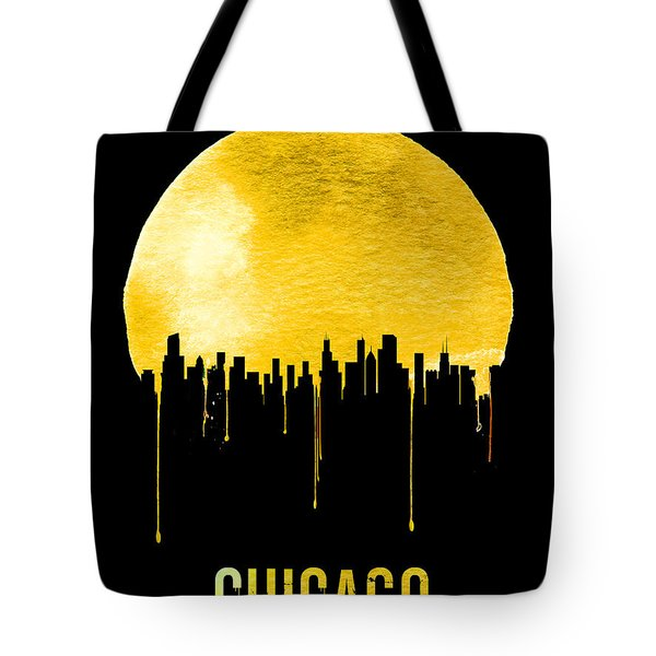 Chicago Skyline Yellow Tote Bag