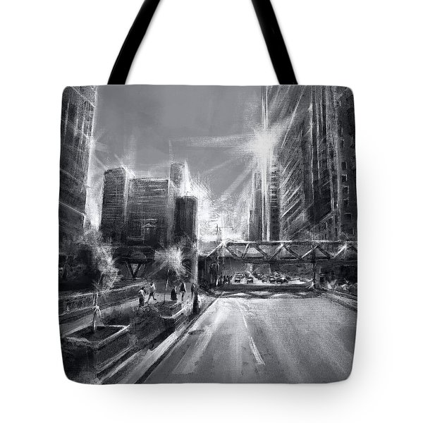 Chicago Street 4 Tote Bag