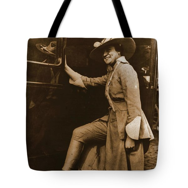 Chicago Suffragette Marching Costume Tote Bag by Padre Art