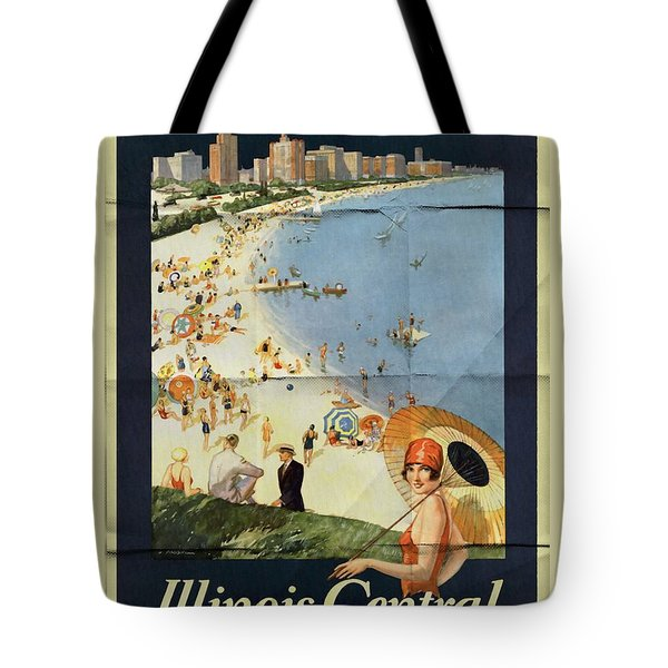 Chicago The Vacation City - Vintage Poster Folded Tote Bag
