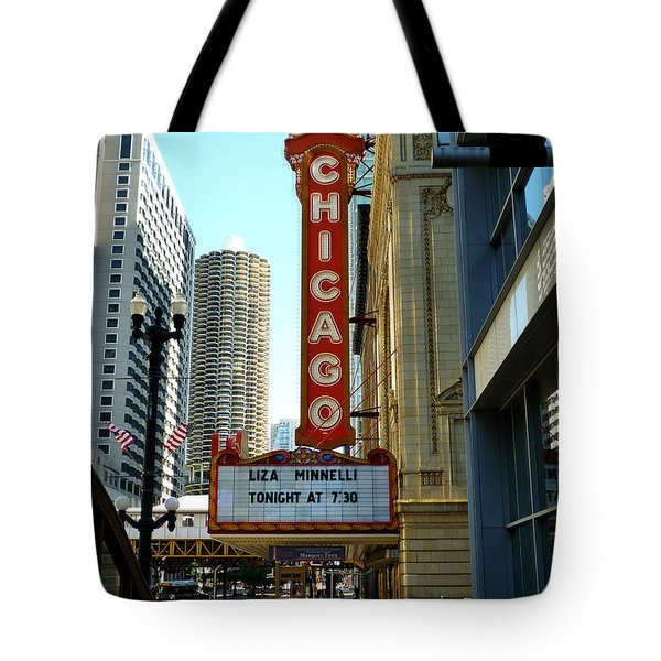 Chicago Theater - 1 Tote Bag by Ely Arsha