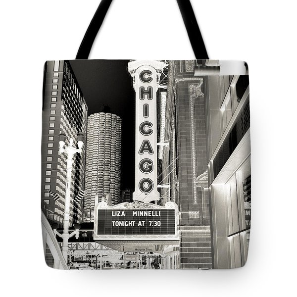 Chicago Theater - 2 Tote Bag by Ely Arsha