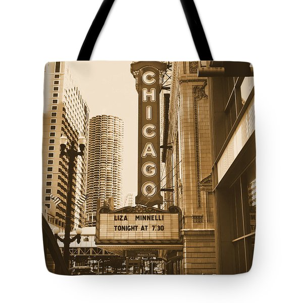 Chicago Theater - 3 Tote Bag by Ely Arsha