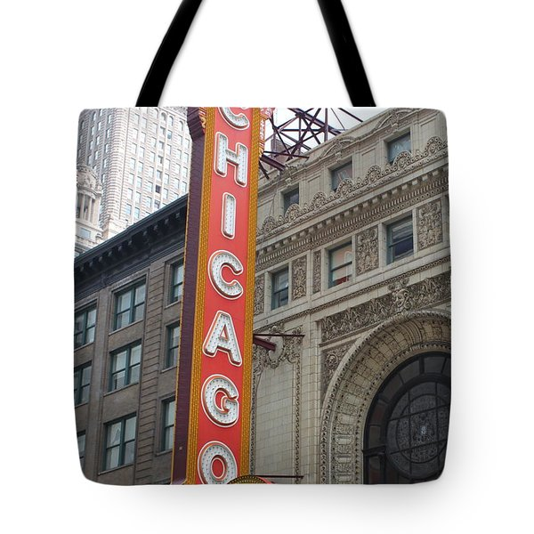 Chicago Theater Sign Tote Bag by Lauri Novak