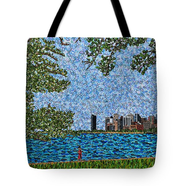 Chicago - View From Lakefront Trail Tote Bag by Micah Mullen